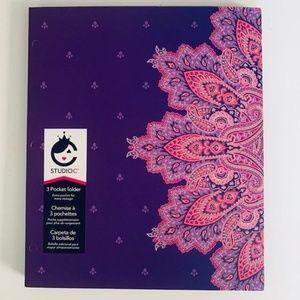Carolina Pad Studio C 3 pocket folder Purple